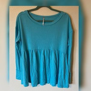 Free People Forever Your Girl Babydoll Tee NWT